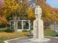 Three Graces Statue Flat Iron park Lake Geneva