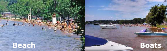 Big Foot Beach with and without Boats