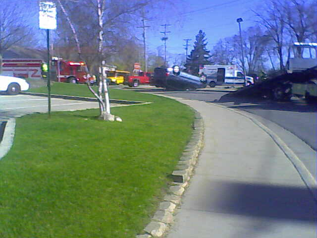 Roll Over accident Lake Geneva WI
