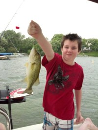 Young Fisherman Lake Geneva Rock bass