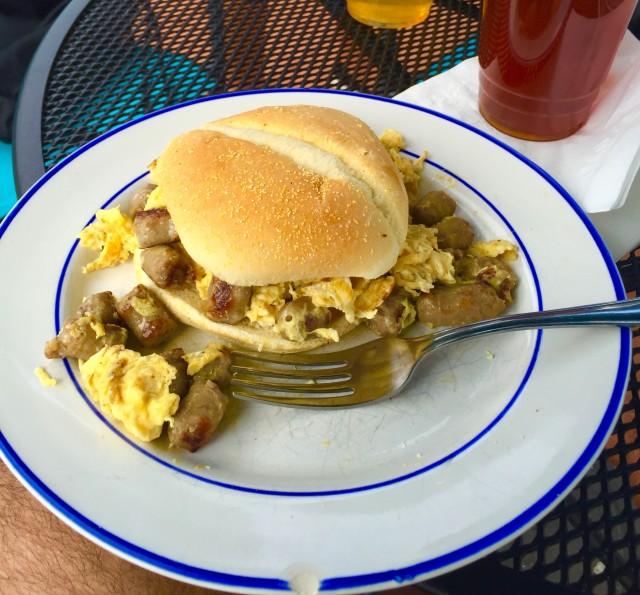Egg Burger at Geneva Java Lake Geneva