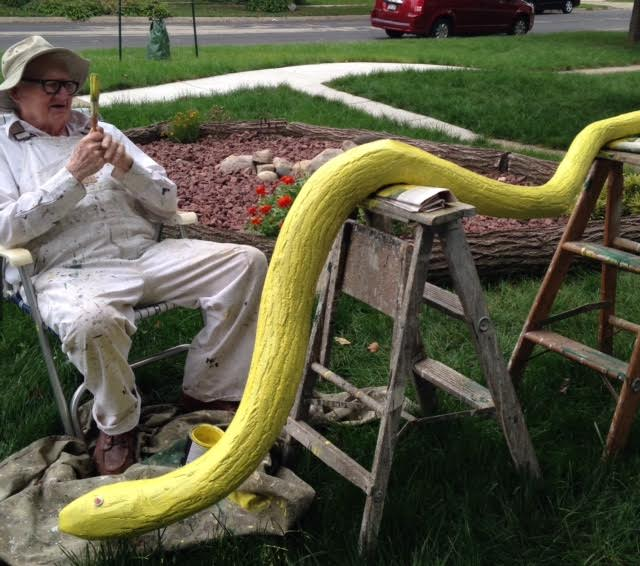 Mr Dhal and his snake