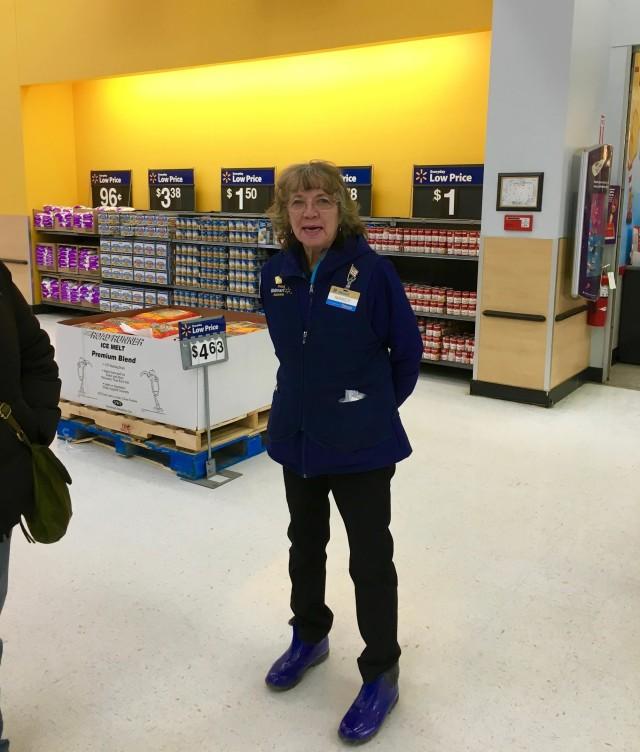 Nancy WalMart Greeter retiring