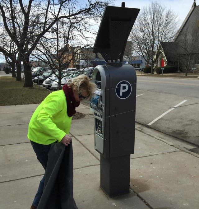 Laae Geneva Parking Meter unshrouded