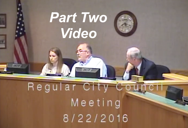 Part Two Video Lake Geneva City Council August 22