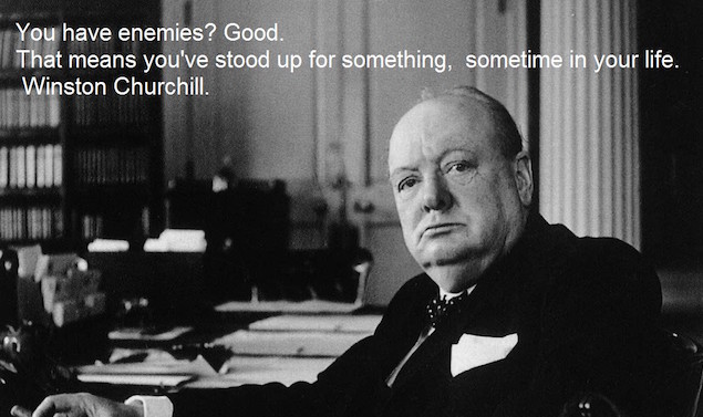 Winston Churchill and Enemies
