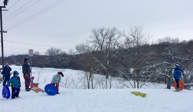 Sledding Hill in Lake Geneva WI