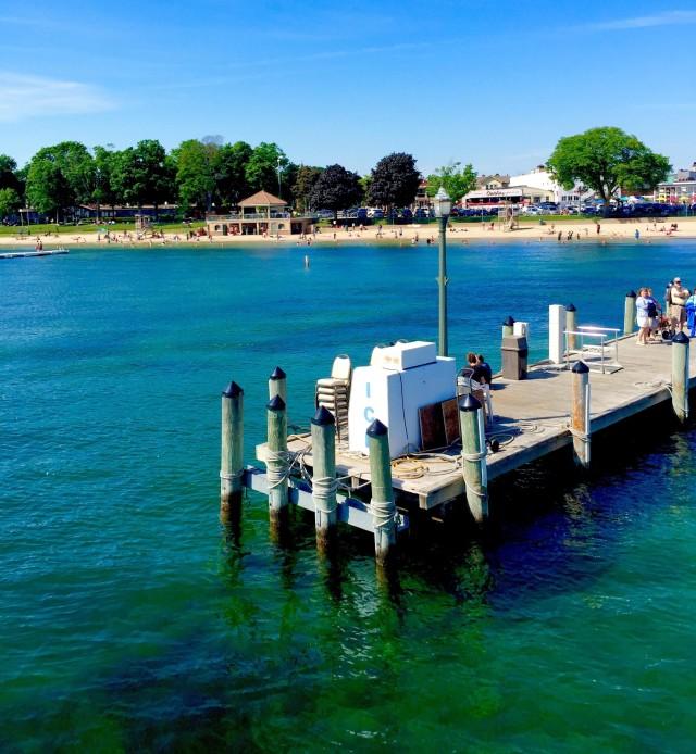 Cyrsytal Clear waters of lake Geneva WI