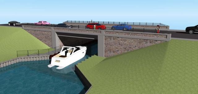 Renfering of new Bridge South Lakeshore Drive