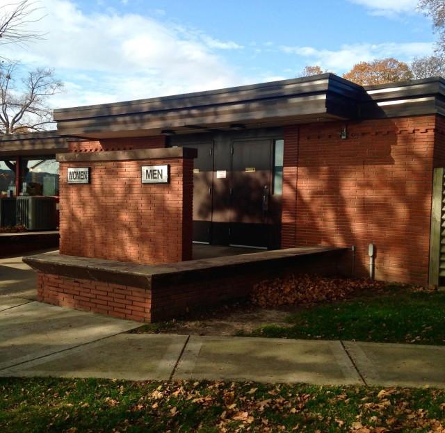 Bathrooms Lake Geneva Library Park closed