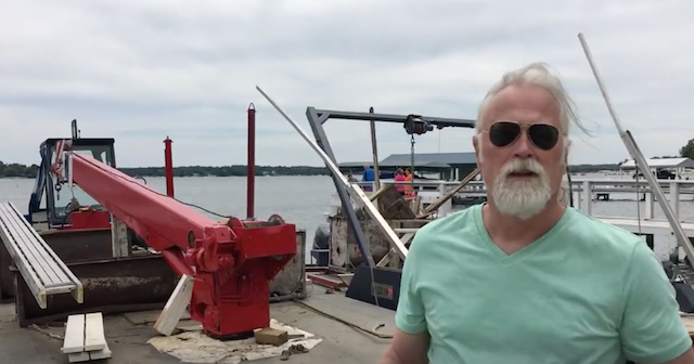 "Someone is 'Barging"" their way in at Boat launch, Lake Geneva, June 12, 2016"