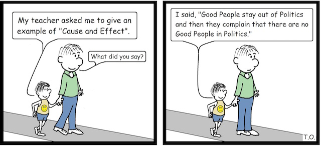 Cause and Effect Cartoon