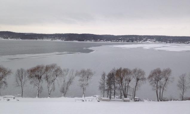 Lake Geneva from window of Stone Manor