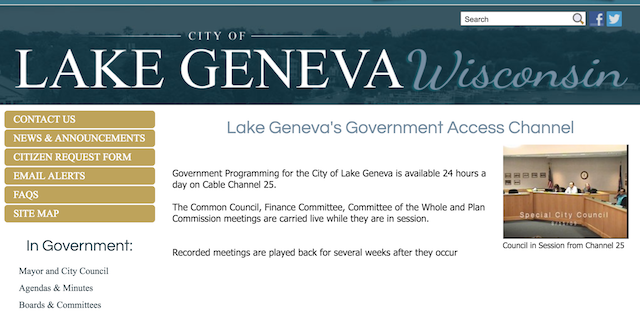 City of Lake Geneva Website
