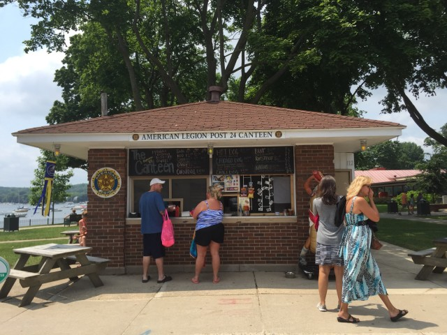 American Legion Hot Dog Stand Lake Genvea
