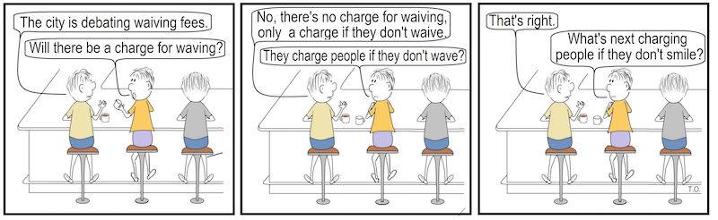 Cartoon Terry O'Neill Lake Geneva