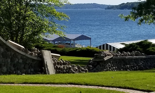 Rock Wall damage Lake Geneva