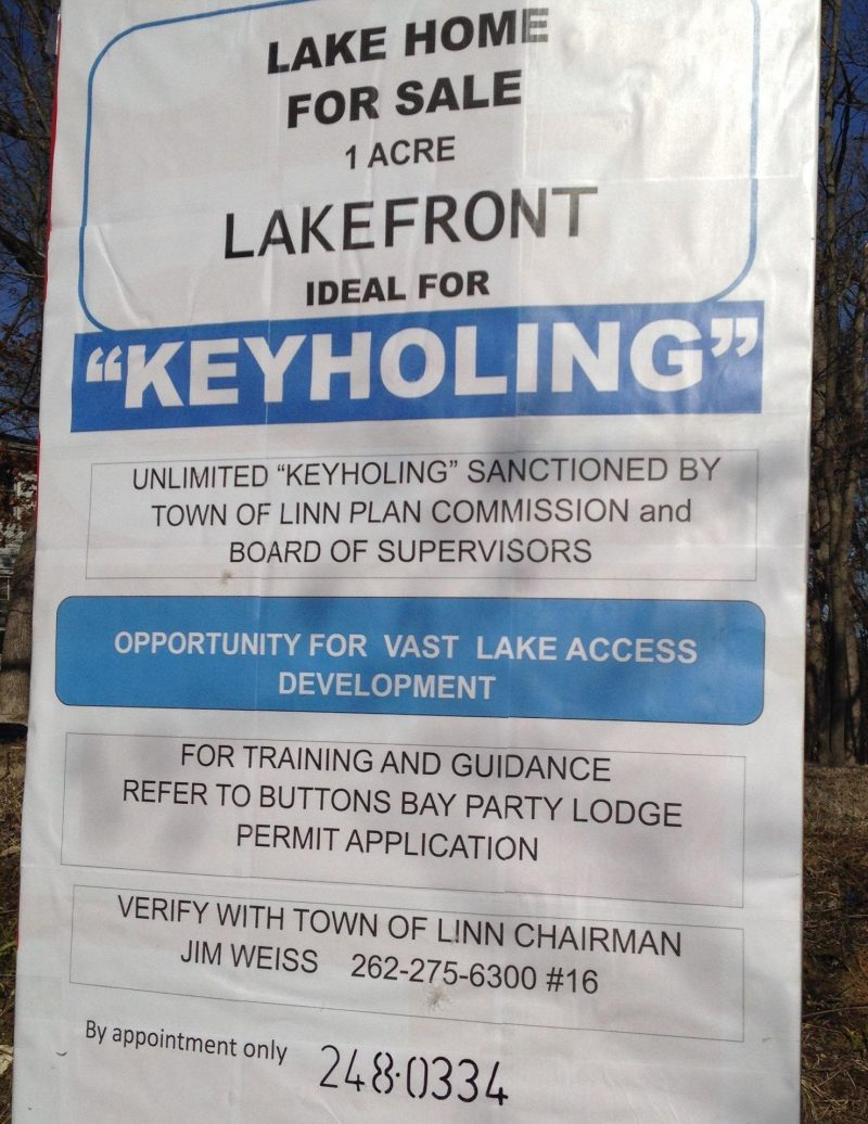 Keyholing Property