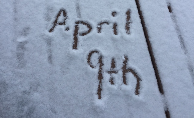 Snow April Lake Geneva