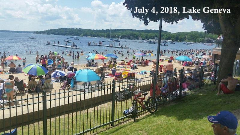 4th of July 2018,Lake Geneva