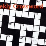 Crossword Puzzle, July 3, 2019
