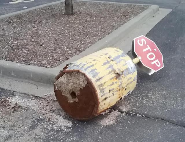 Fallen Stop Sign Lake Geneva