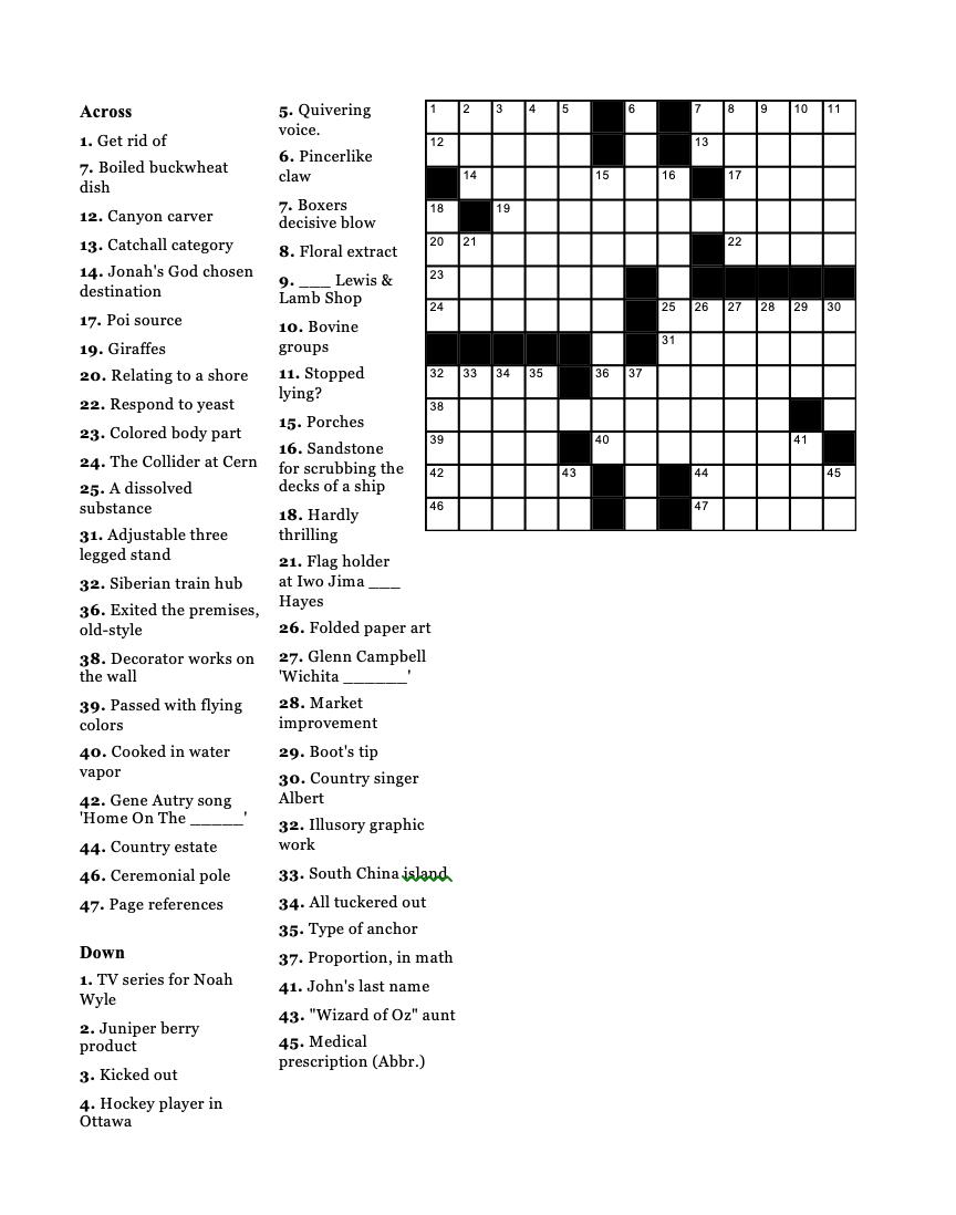 Crossword Puzzle 08-14