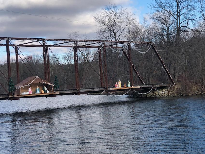 Decorated Bridge Lake Geneva