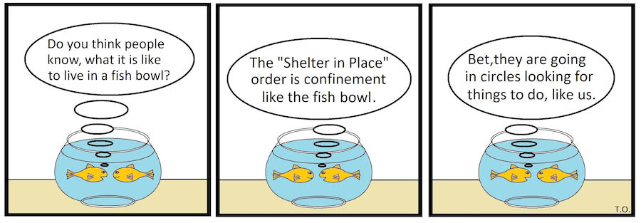 Cartoon by Terry O'Neill, Lake Geneva