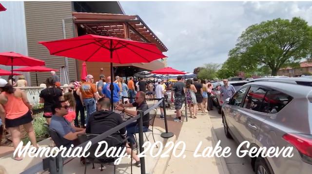 Sunday, May 24, 2020, Lake Geneva Social Distancing?