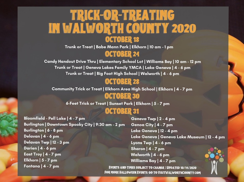 Walworth County Halloween 2020