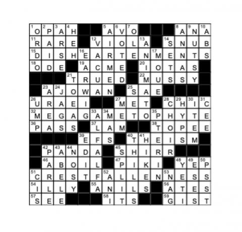 Crossword Answer